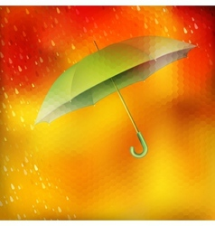 Abstract umbrella and raindrops EPS 10 vector image