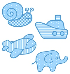 Applique prints for baby boys set vector image