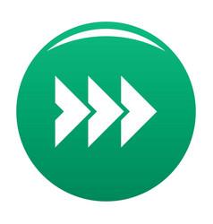 Arrow icon green vector