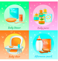 baby food design concept vector image