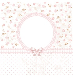 Baby pink flower background vector
