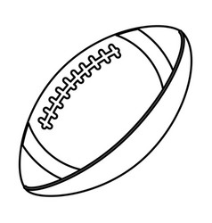 Ball american football sport equipment outline vector