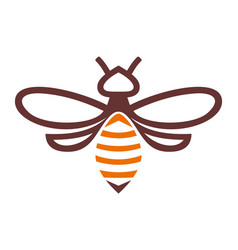 Bee abstract logo icon vector