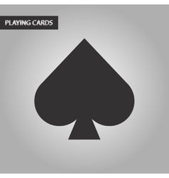 black and white style game spades vector image