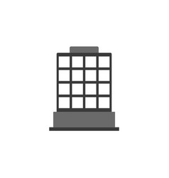 building icon building black an white icon vector image