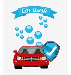 car wash design vector image