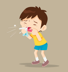 Child blow the nose vector