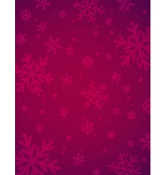 Christmas background with red blurred snowflakes vector