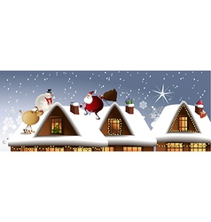 Christmas team vector image