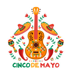 cinco de mayo card mexican culture decoration vector image