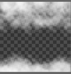 clouds white fog smog on transparent background vector image