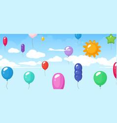 colorful balloon festival birthday graduating vector image