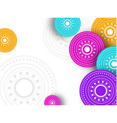 Colorful mandala pattern decorated on white vector