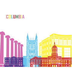 Columbia mo skyline pop vector