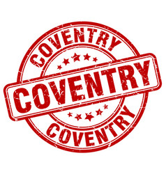 Coventry red grunge round vintage rubber stamp vector