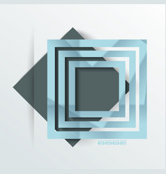 Design - blue and black rhombus background vector
