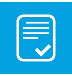 Document white icon vector
