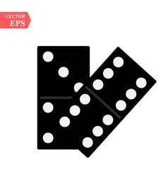 domino icon isolated on white background for your vector image