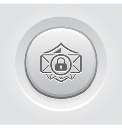 Email Security Icon Grey Button Design vector