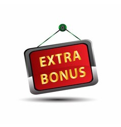Extra Bonus Icon Internet button on red background vector