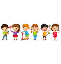 fanny cartoon kids isolated vector image