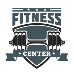 Fitness shield badge image vector