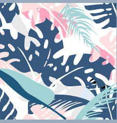 floral palm pattern vector image