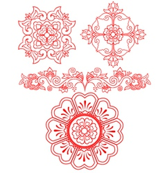 floral scroll element vector image