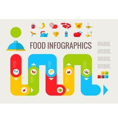 Food Infographic Elements vector image