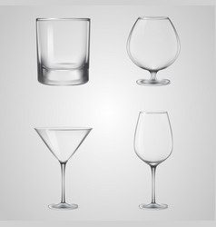 glass drink wine water beverage vector image