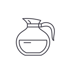 glass teapot line icon concept glass teapot vector image