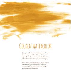 golden hand paint ink texture background vector image