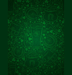 Green background for patricks day with ber mug vector