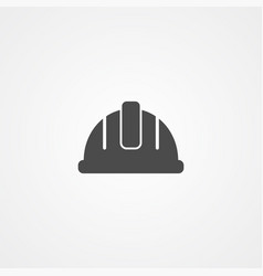 helmet icon sign symbol vector image