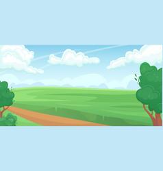 Horizontal landscape a green summer field vector