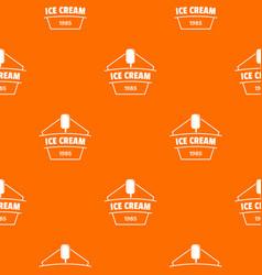 ice cream pattern orange vector image