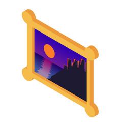 image icon isometric style vector image