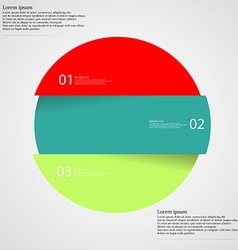 Infographic template with circle divided to three vector