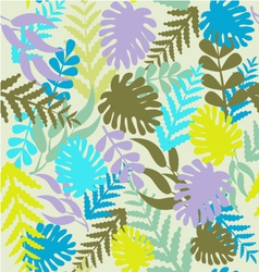 Leaves pattern tropical pattern with monstera vector