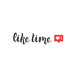 like time lettering for social media and blogging vector image
