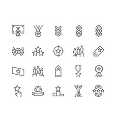 line ranking icons vector image