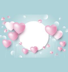 love banner concept design heart balloons vector image