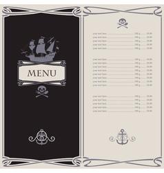 menu skull vector image