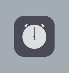 modern stopwatch icon on gray background vector image