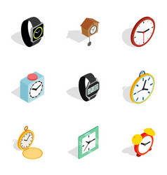 modern time icons isometric 3d style vector image