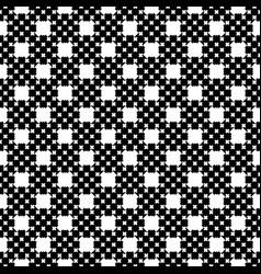 monochrome seamless pattern cross stitching vector image