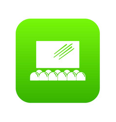 movie theater screen icon green vector image