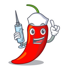 nurse character red chili pepper for seasoning vector image