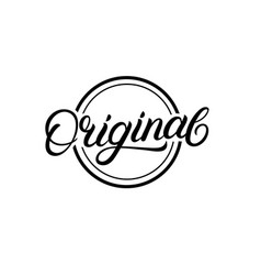 Original hand written lettering sign logo stamp vector