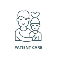 patient care line icon linear concept vector image